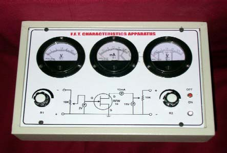 Fet Characteristics Apparatus with Regulated Power Supplies, Fet Characteristics Apparatus with Regulated Power Supplies Manufacturer, Fet Characteristics Apparatus with Regulated Power Supplies Exporter, Fet Characteristics Apparatus with Regulated Power Supplies Supplier, Fet Characteristics Apparatus with Regulated Power Supplies India, Fet Characteristics Apparatus with Regulated Power Supplies Ambala, Fet Characteristics Apparatus with Regulated Power Supplies Indian, Kshitij Innovation